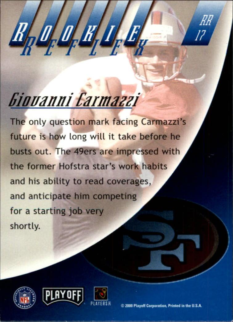 2000 Absolute Rookie Reflex #RR17 Giovanni Carmazzi back image