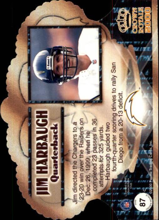 2000 Crown Royale #87 Jim Harbaugh back image