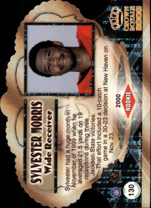 2000 Crown Royale #130 Sylvester Morris RC back image