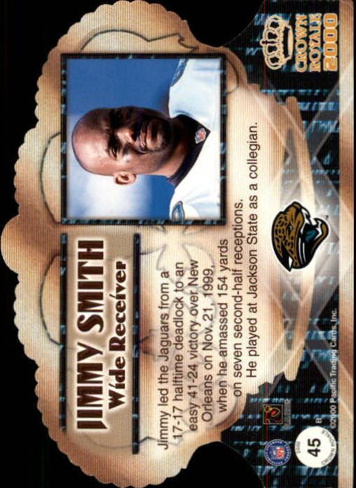 2000 Crown Royale Premiere Date #45 Jimmy Smith back image