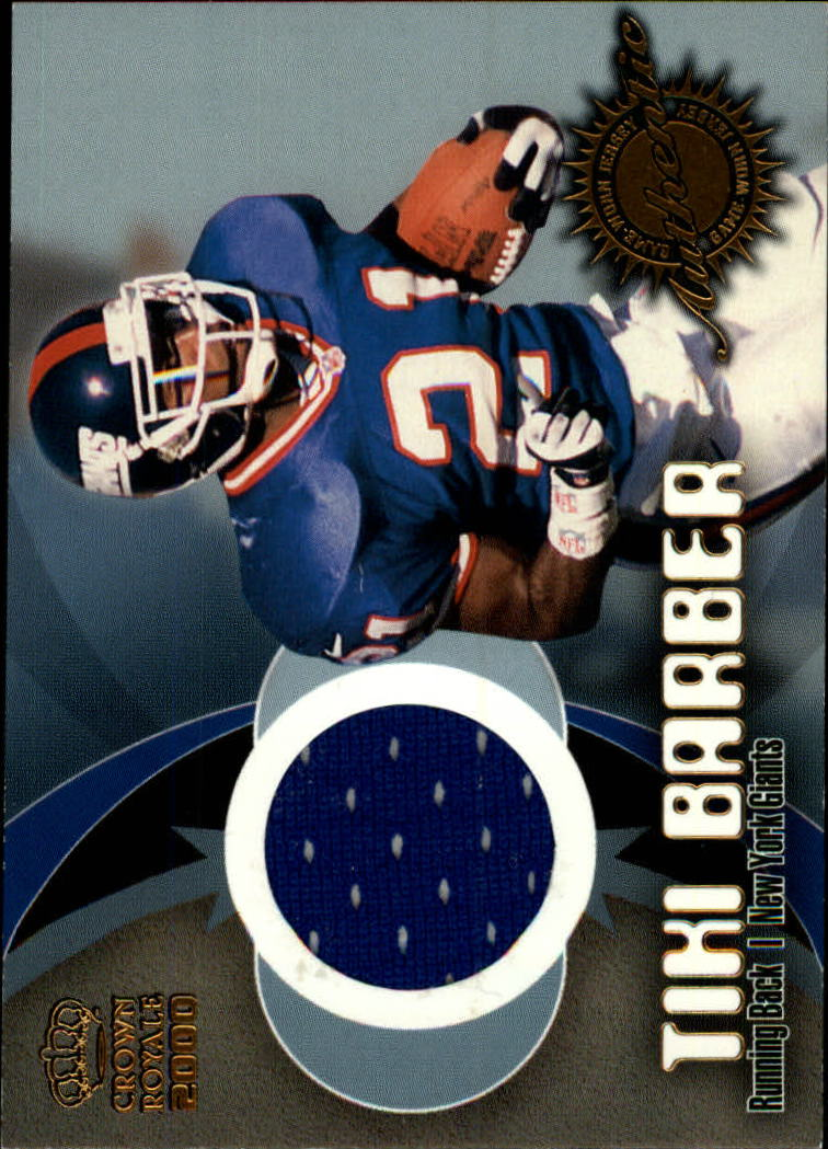 2000 Crown Royale Game Worn Jerseys #5 Tiki Barber
