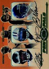 2000 Donruss Preferred Pen Pals #PP82 Ricky Williams/Donovan McNabb/Cade McNown