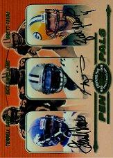 2000 Donruss Preferred Pen Pals #PP87 Ricky Williams/Brett Favre/Terrell Davis