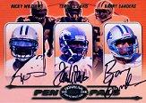 2000 Donruss Preferred Pen Pals #PP91 Barry Sanders/Ricky Williams/Terrell Davis