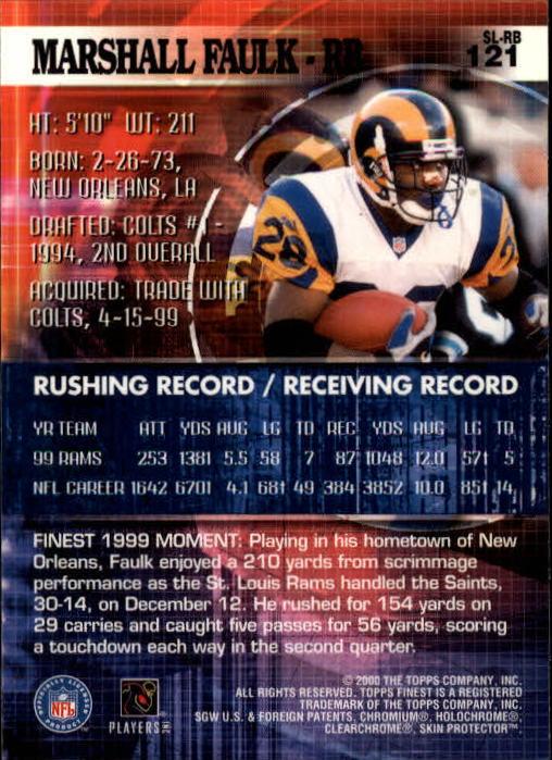 2000 Finest #121 Marshall Faulk back image
