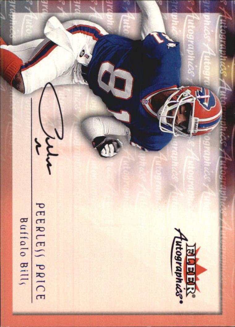 2000 Fleer Tradition Autographics #118 Peerless Price