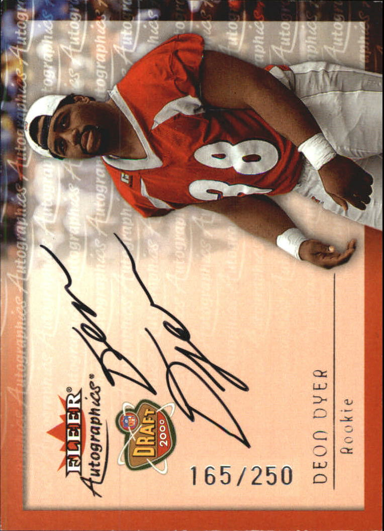 2000 Fleer Tradition Autographics Silver #41 Deon Dyer