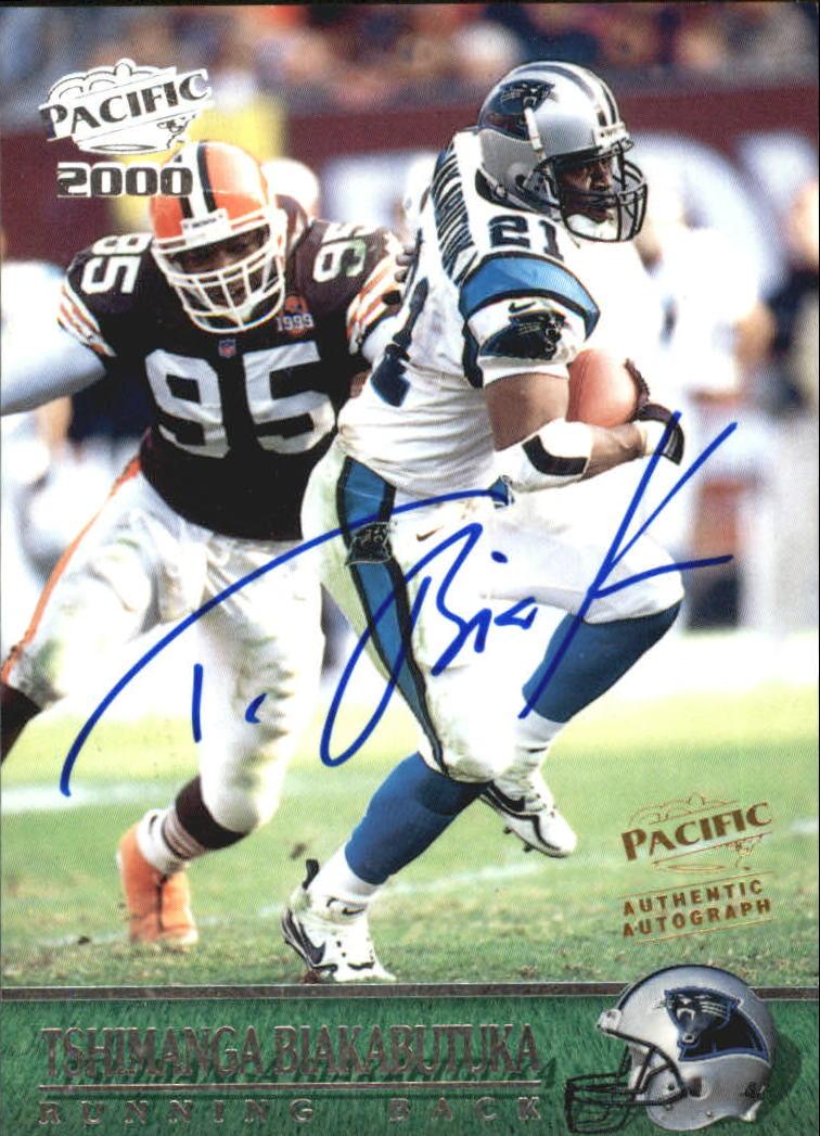 2000 Pacific Autographs #51 Tim Biakabutuka/200*