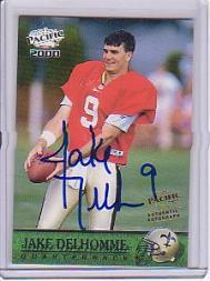 2000 Pacific Autographs #229 Jake Delhomme/500*