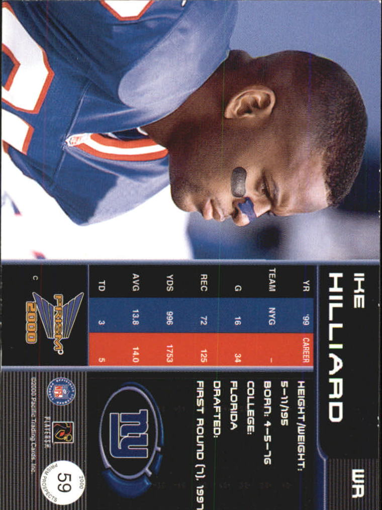 2000 Pacific Prism Prospects #59 Ike Hilliard back image