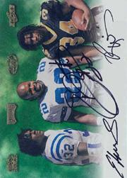 2000 Playoff Hawaii Promo Autographs #31 Edgerrin James/Emmitt Smith/Ricky Williams