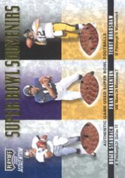 2000 Playoff Momentum Super Bowl Souvenirs #SB37 Roger Staubach/Fran Tarkenton/Terry Bradshaw