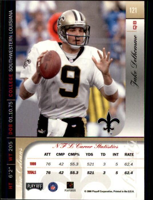 2000 Playoff Prestige #121 Jake Delhomme RC back image