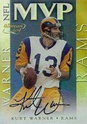 2000 Quantum Leaf #NFL1A Kurt Warner MVP AU/100*