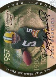2000 Quantum Leaf All-Millennium Team Autographs #PH Paul Hornung