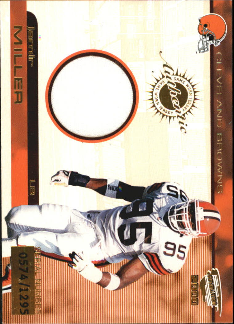 2000 Revolution Game Worn Jerseys #2 Jamir Miller/1295*