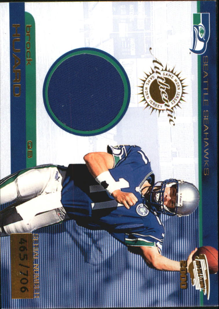 2000 Revolution Game Worn Jerseys #19 Brock Huard/706*