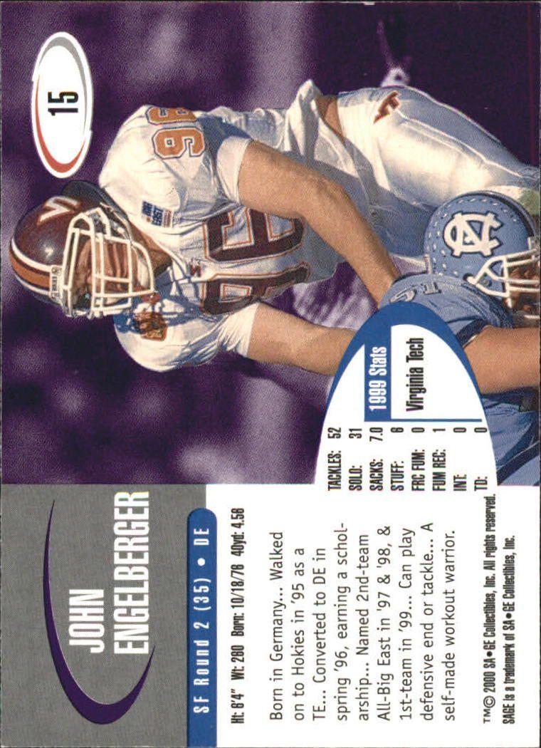 2000 SAGE #15 John Engelberger back image