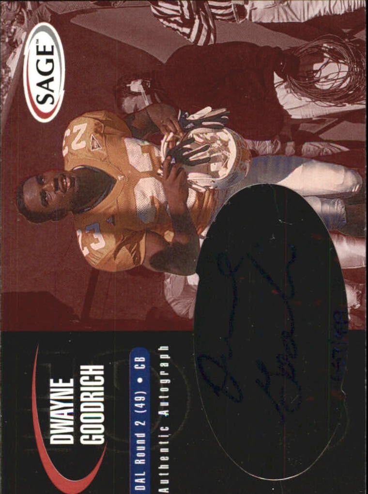 2000 SAGE Autographs Red #A17 Dwayne Goodrich/999