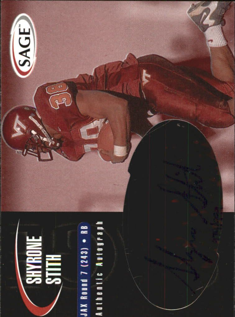 2000 SAGE Autographs Red #A44 Shyrone Stith/999