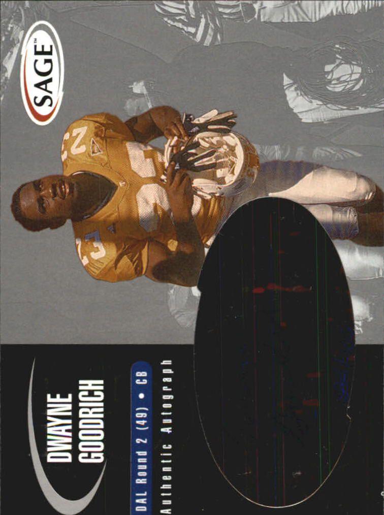 2000 SAGE Autographs Silver #A17 Dwayne Goodrich/400