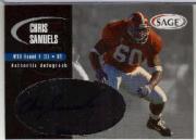 2000 SAGE Autographs Silver #A40 Chris Samuels/400