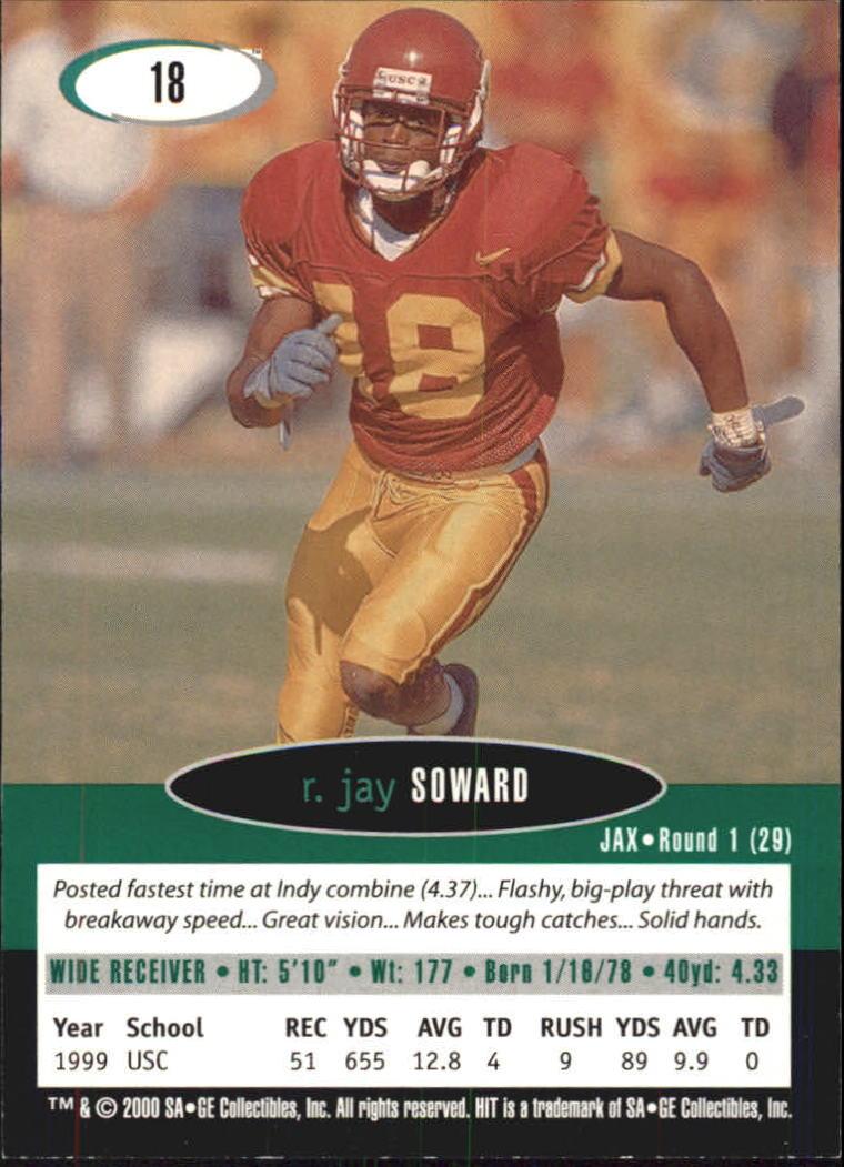 2000 SAGE HIT #18 R.Jay Soward back image