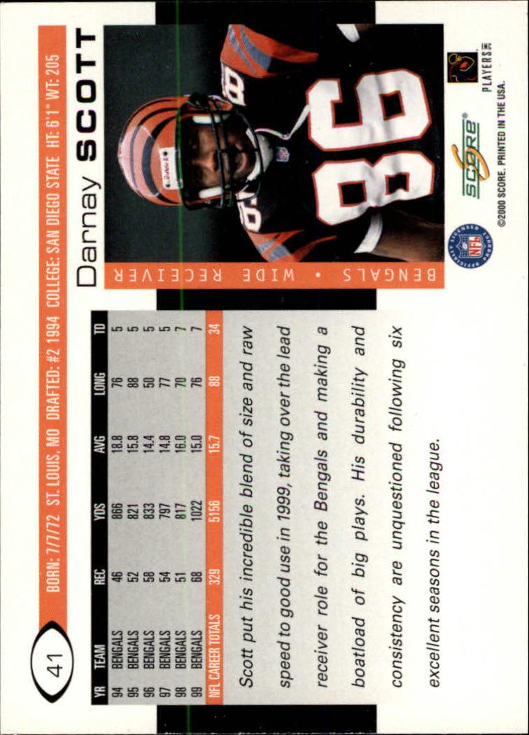 2000 Score #41 Darnay Scott back image