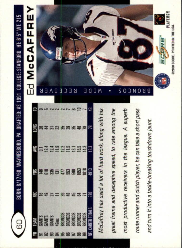 2000 Score #60 Ed McCaffrey back image