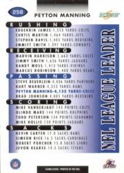 2000 Score #258 Peyton Manning LL back image