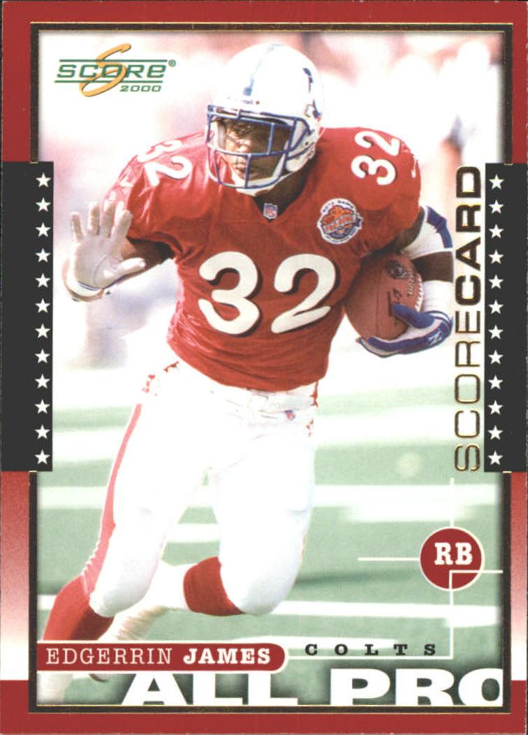 2000 Score Scorecard #241 Edgerrin James AP