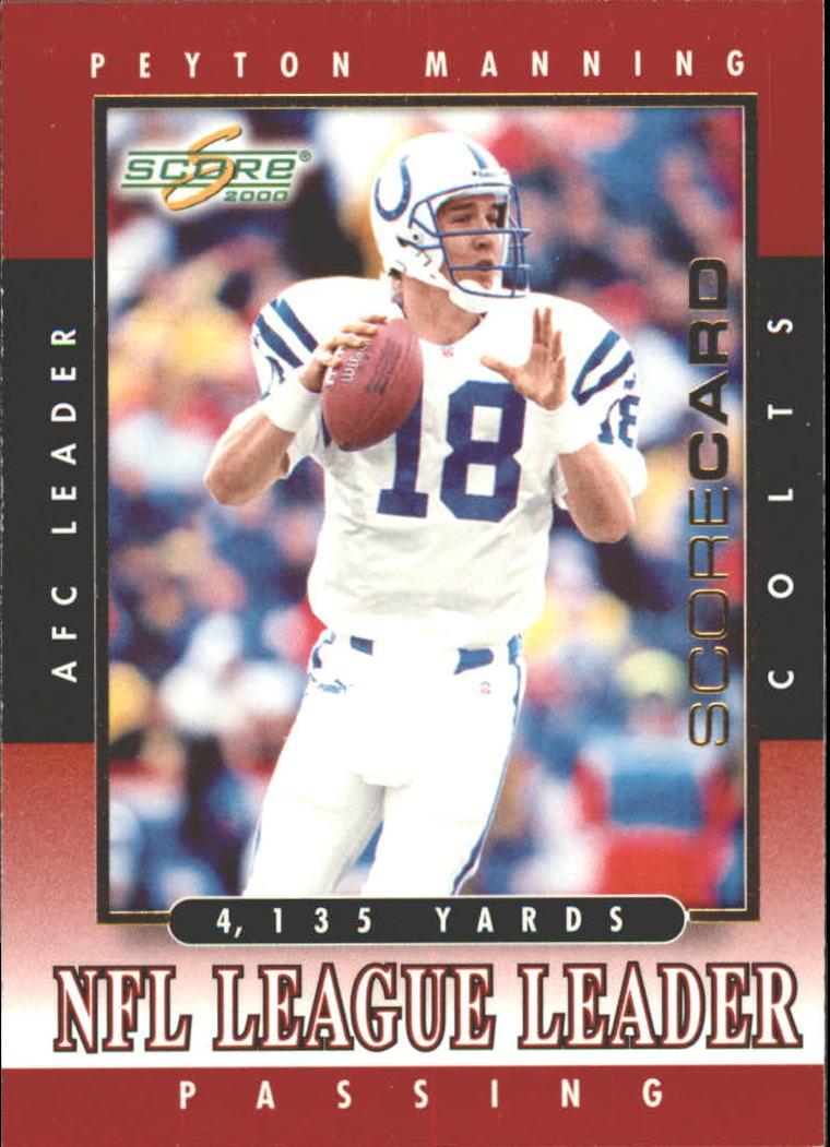 2000 Score Scorecard #258 Peyton Manning LL