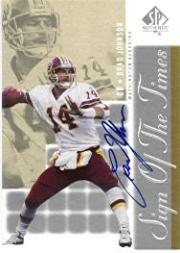 2000 SP Authentic Sign of the Times #BJ Brad Johnson