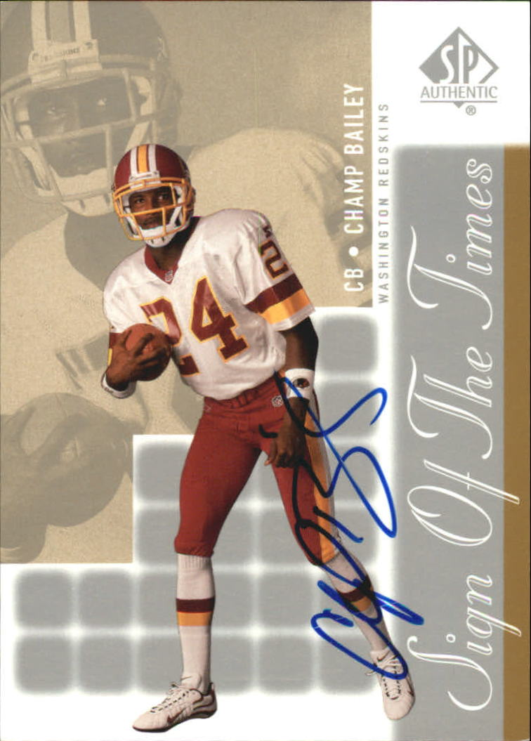 2000 SP Authentic Sign of the Times #CH Champ Bailey