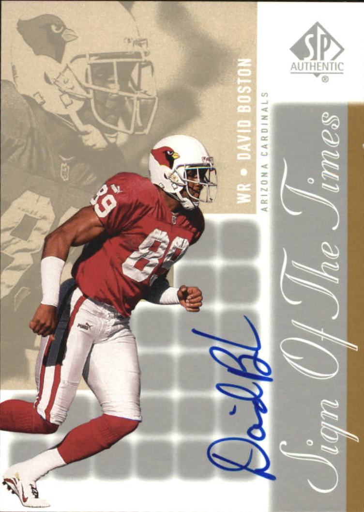 2000 SP Authentic Sign of the Times #DB David Boston