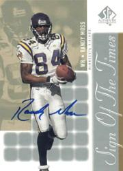 2000 SP Authentic Sign of the Times #RM Randy Moss