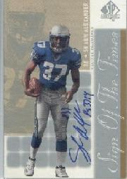 2000 SP Authentic Sign of the Times #SA Shaun Alexander