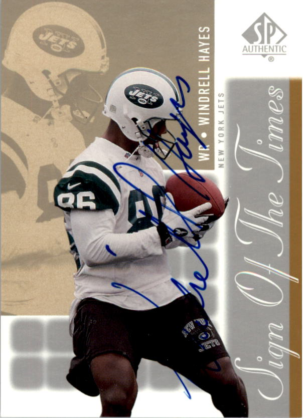 2000 SP Authentic Sign of the Times #WH Windrell Hayes