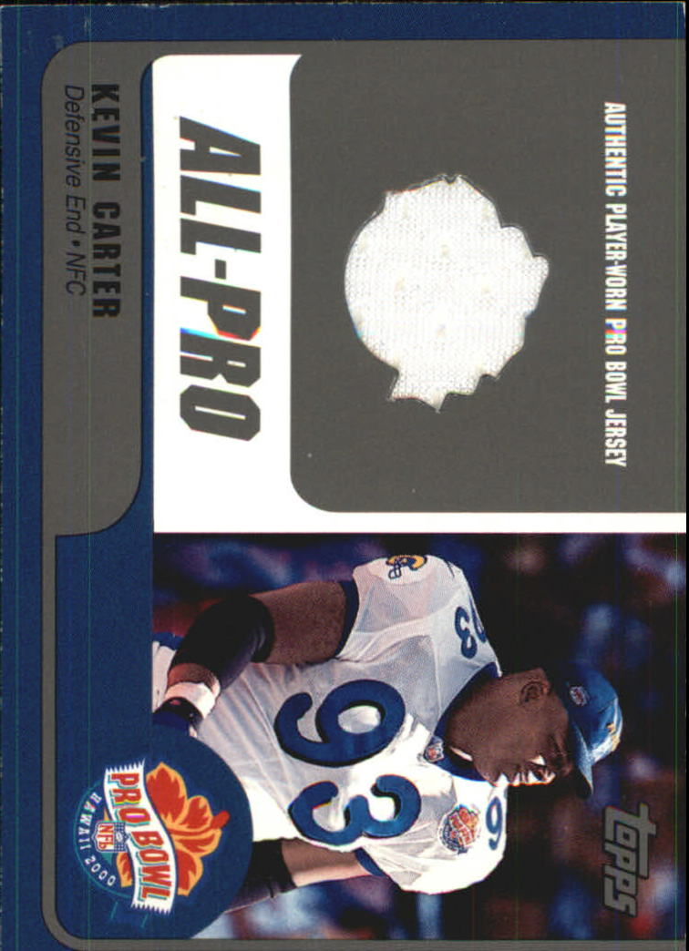 2000 Topps Pro Bowl Jerseys  KCDE Kevin Carter b8ee6a5c3