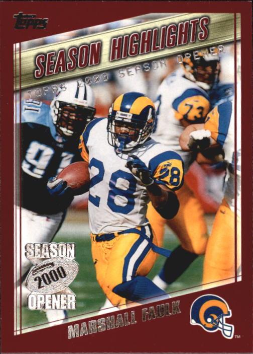 2000 Topps Season Opener #178 Marshall Faulk HL