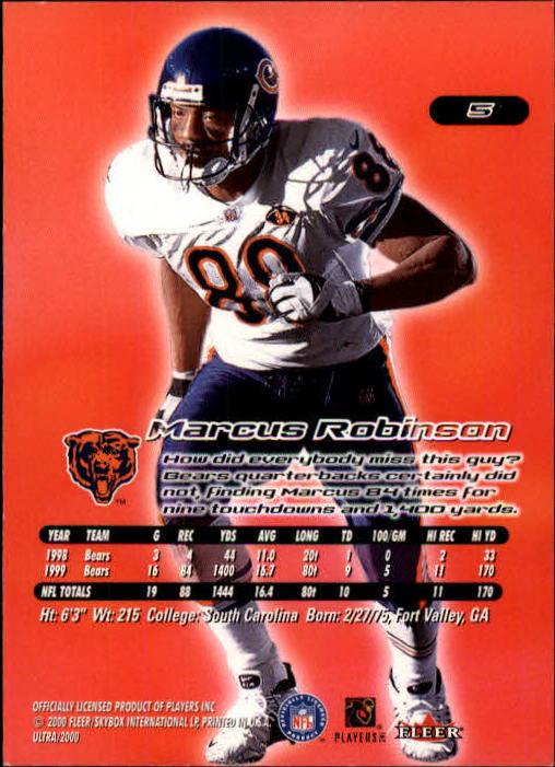 2000 Ultra #5 Marcus Robinson back image
