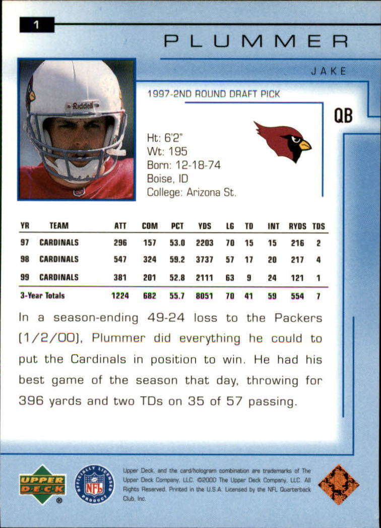 2000-Upper-Deck-Football-Card-039-s-1-200-You-Pick-Buy-10-cards-FREE-SHIP thumbnail 3