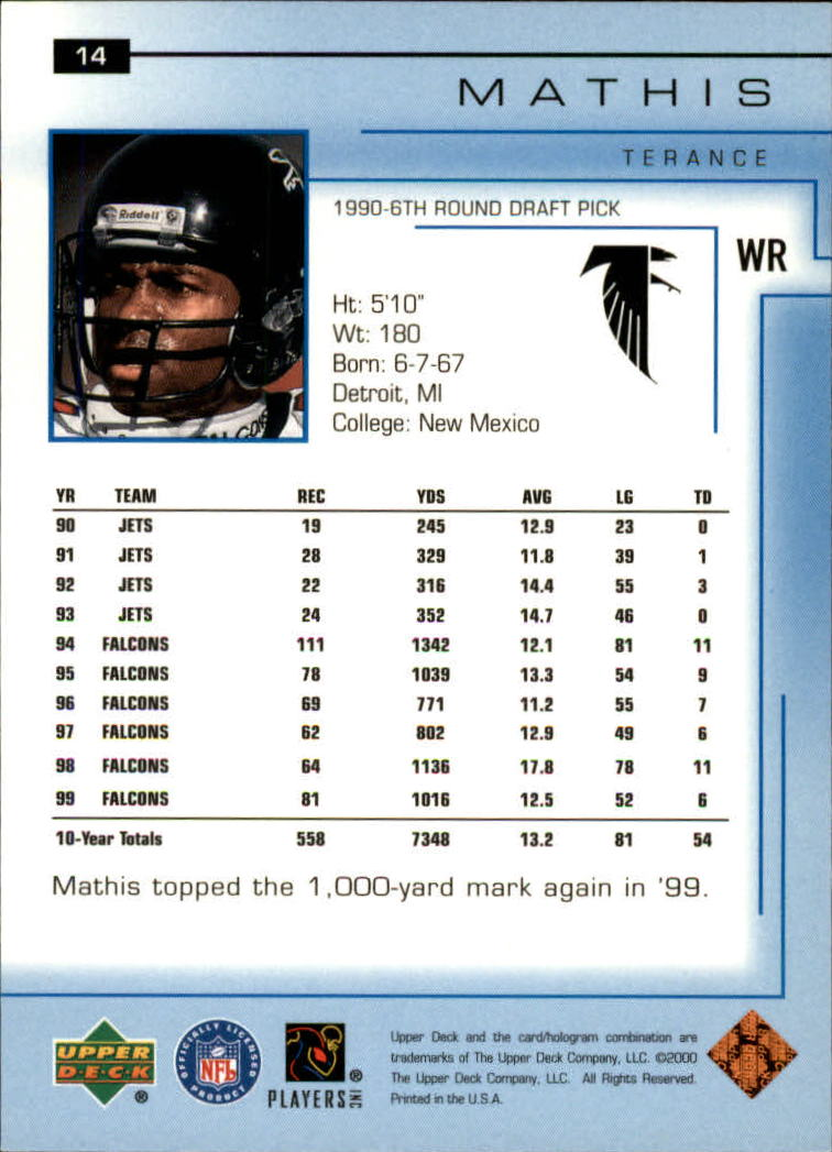 2000-Upper-Deck-Football-Card-039-s-1-200-You-Pick-Buy-10-cards-FREE-SHIP thumbnail 19