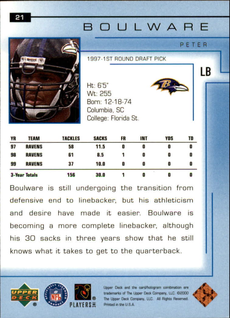 2000-Upper-Deck-Football-Card-039-s-1-200-You-Pick-Buy-10-cards-FREE-SHIP thumbnail 29