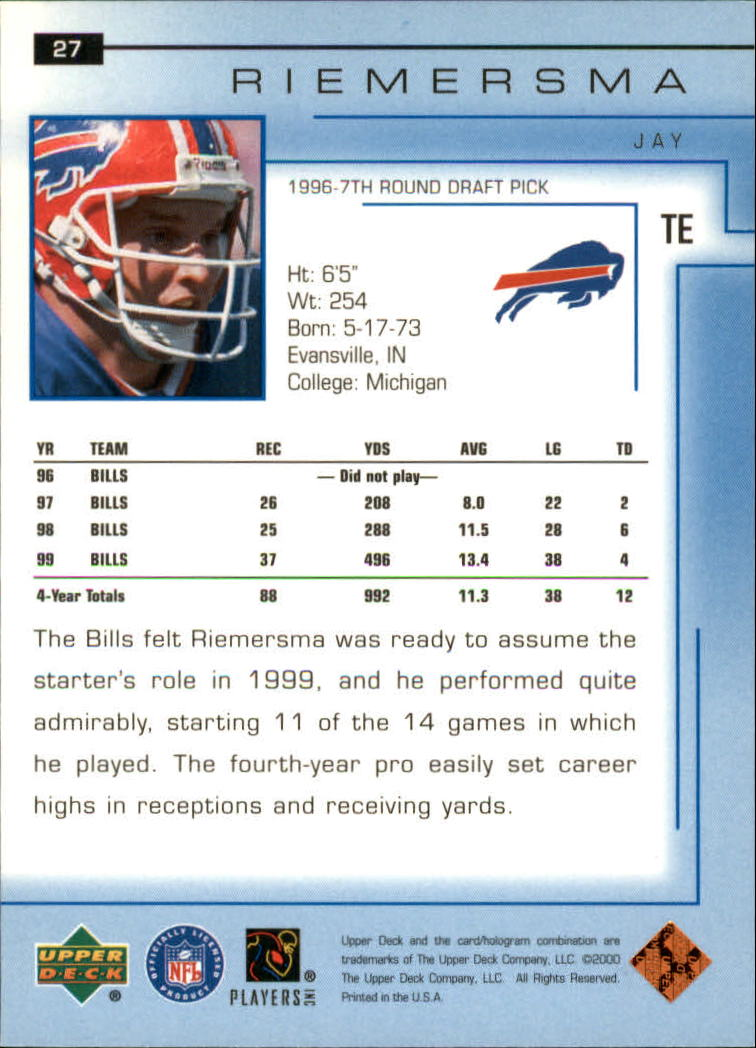 2000-Upper-Deck-Football-Card-039-s-1-200-You-Pick-Buy-10-cards-FREE-SHIP thumbnail 37