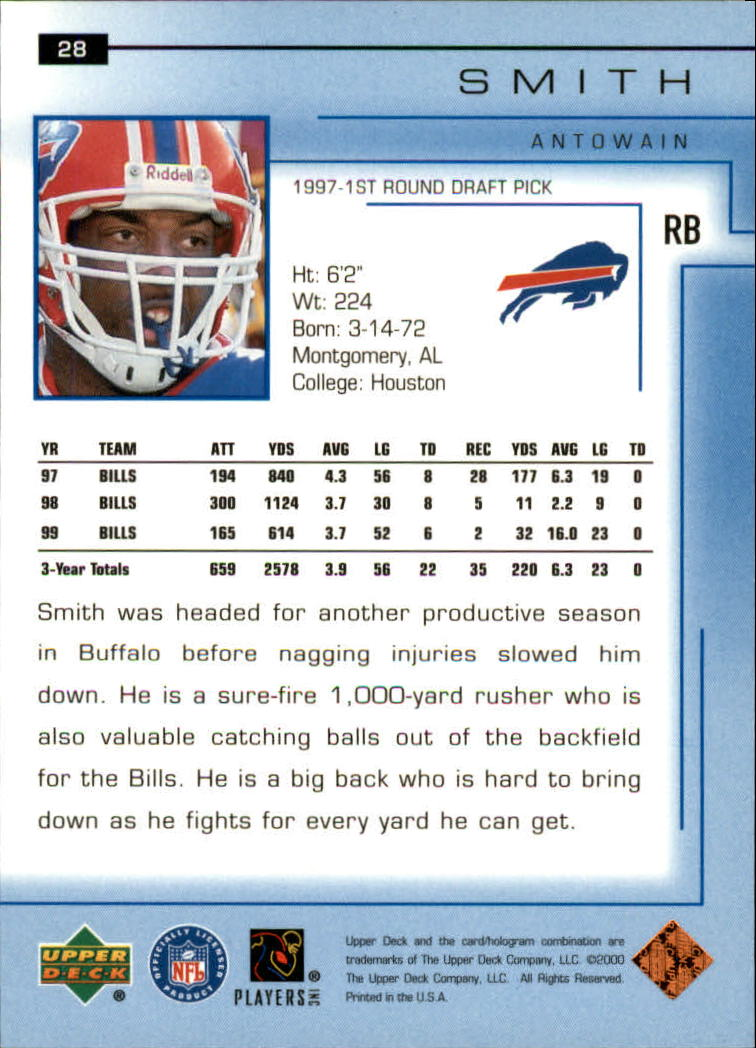 2000-Upper-Deck-Football-Card-039-s-1-200-You-Pick-Buy-10-cards-FREE-SHIP thumbnail 39