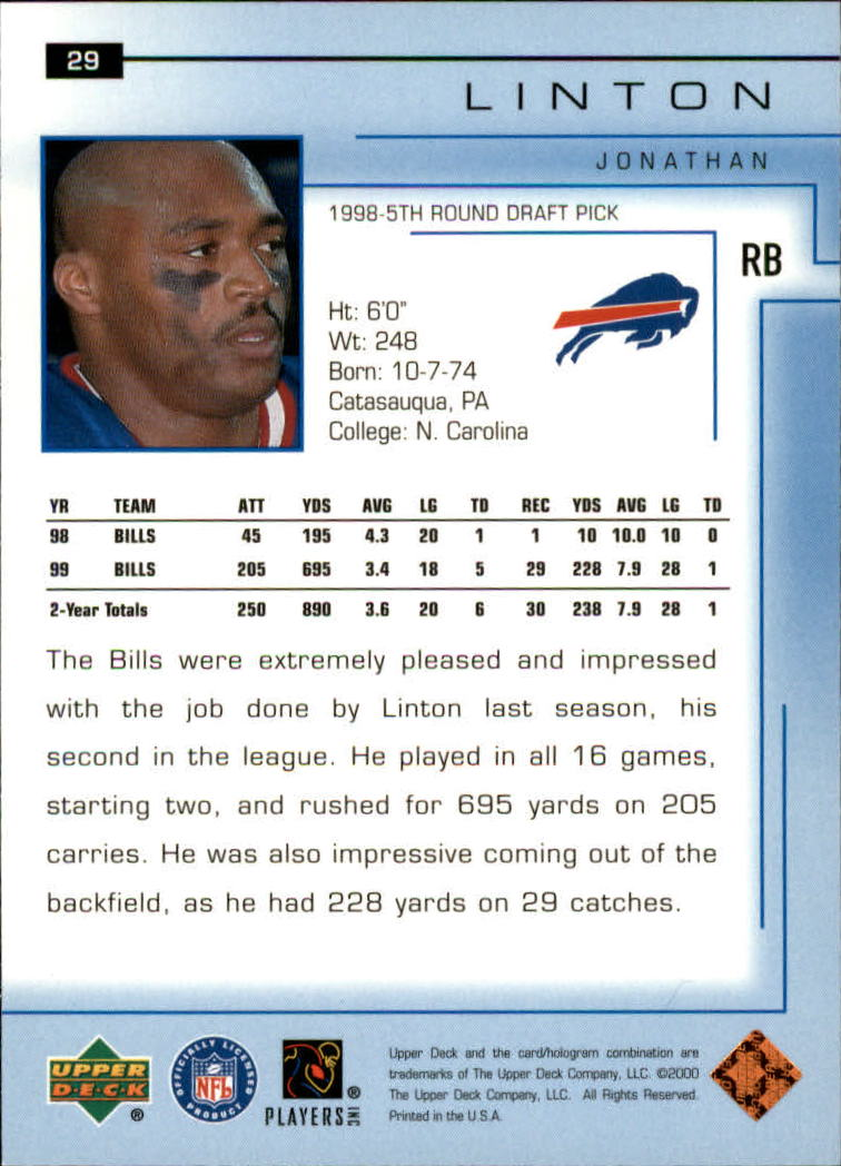 2000-Upper-Deck-Football-Card-039-s-1-200-You-Pick-Buy-10-cards-FREE-SHIP thumbnail 41