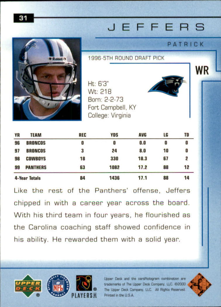 2000-Upper-Deck-Football-Card-039-s-1-200-You-Pick-Buy-10-cards-FREE-SHIP thumbnail 43