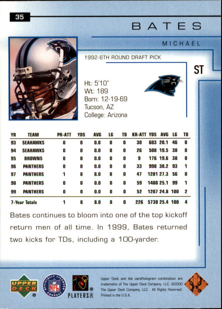 2000-Upper-Deck-Football-Card-039-s-1-200-You-Pick-Buy-10-cards-FREE-SHIP thumbnail 49