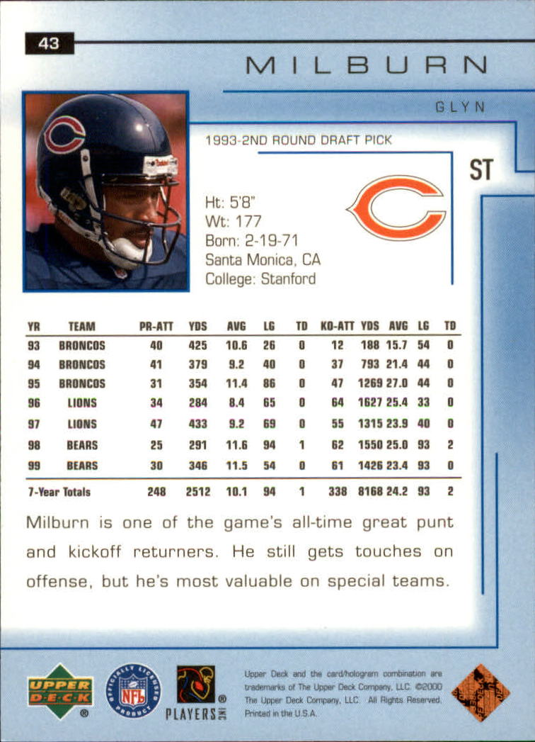 2000-Upper-Deck-Football-Card-039-s-1-200-You-Pick-Buy-10-cards-FREE-SHIP thumbnail 61